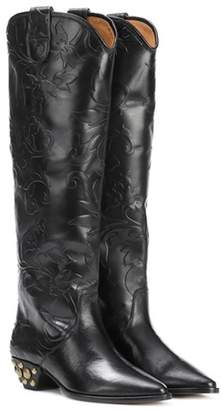 Isabel Marant Dinzy embossed leather boots