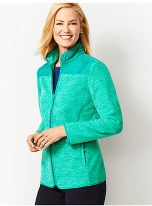 Talbots Heathered Polar Fleece Jacket