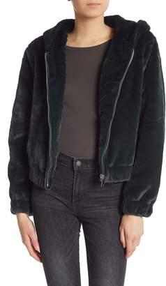 Bagatelle Hooded Faux Fur Teddy Jacket