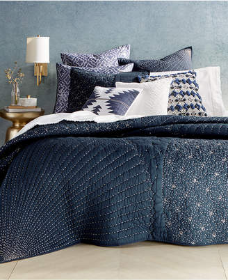 Lucky Brand Closeout! Sashiko Navy Twin Quilt, Created for Macy's Bedding