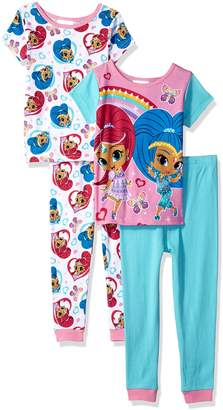 Nickelodeon Little Girls' Shimmer and Shine-Piece Pajama Set