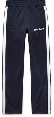 Palm Angels Logo-Print Striped Tech-Jersey Sweatpants