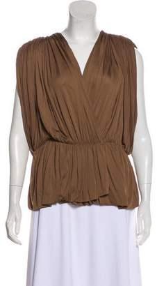 Lanvin Pleated Knit Blouse
