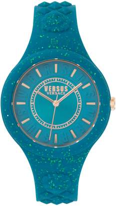 Versace Fire Island Sparkle Analogue Strap Watch