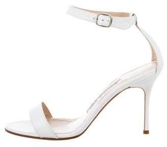 Manolo Blahnik Mid-Heel Strap Sandals