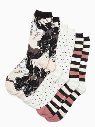 Kate Spade Stallion crew sock set