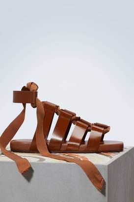 Jil Sander Lace-up sandals