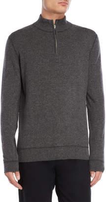 Forte Cashmere Stitched Mock Neck Cashmere Sweater