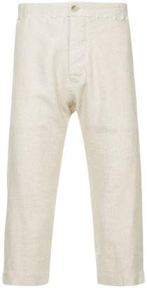 A New Cross stitch detail cropped trousers