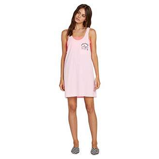 Volcom Junior's Women's Neon and On Pigment Dyed Loose Fit Tank Dress