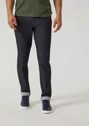 Emporio Armani Trousers In Stretch Twill