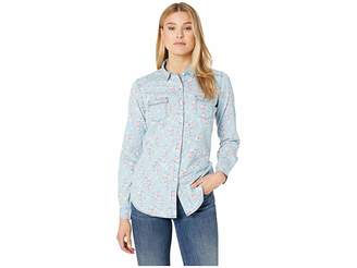 Rock and Roll Cowgirl Long Sleeve Printed Button Down B4B6061