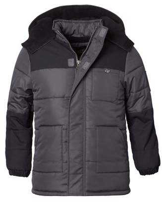 iXtreme Hooded Arm Patch Puffer Jacket Coat (Baby Boys & Toddler Boys)