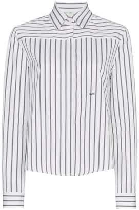 Off-White stripe floral print long sleeve shirt