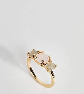 Asos Exclusive Semi-Precious Triple Set Stone Ring