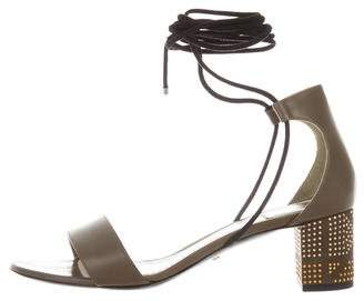 Christian Dior Leather Lace-Up Sandals