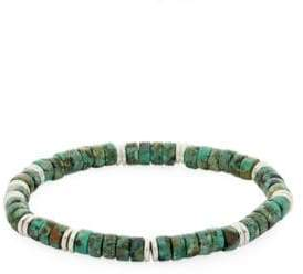 Saks Fifth Avenue African Turquoise Beaded Bracelet