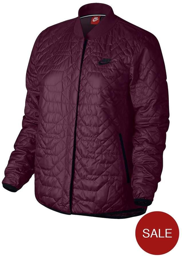 Sportswear Quilted Jacket - Burgundy