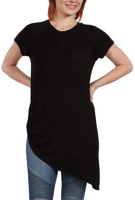 24/7 Comfort Apparel Zola Asymmetric Short Sleeve Tee