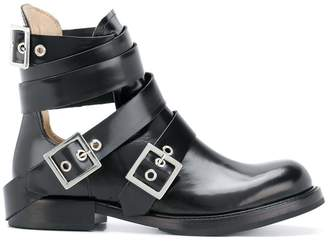 Diesel cut-out buckle boots
