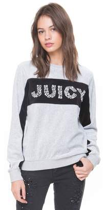 Juicy Couture Colorblock Velour Juicy Gems Pullover