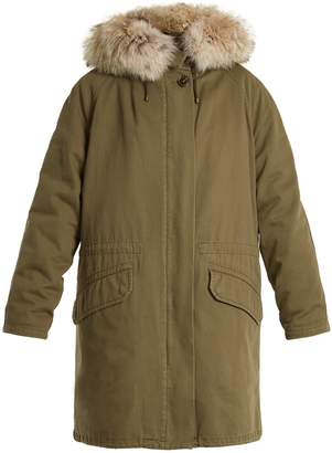 YVES SALOMON ARMY Fur-lined cotton-canvas parka