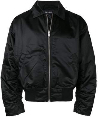 Misbhv classic collar satin bomber jacket
