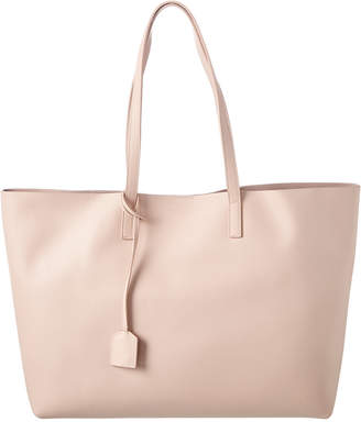 Saint Laurent East/West Leather Shopping Tote