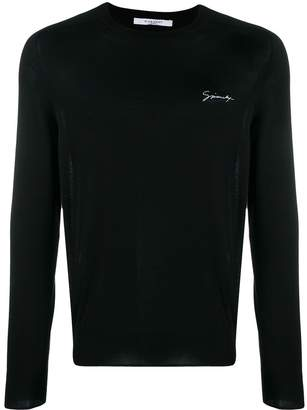 Givenchy chest logo knitted sweater