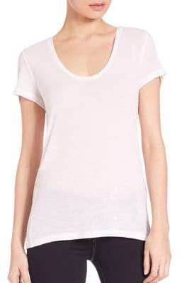 L'Agence Perfect Scoopneck Tee