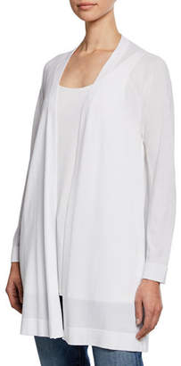 Eileen Fisher Open-Front Long Stretch-Knit Cardigan