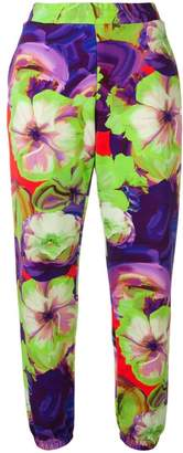 MSGM floral jogging trousers