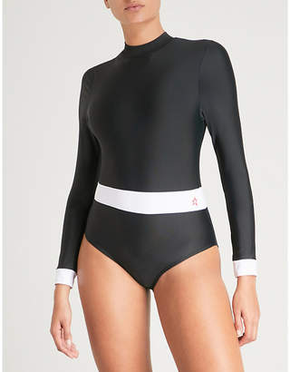 Perfect Moment Ladies Black and Snow White Wet Spring Swimsuit
