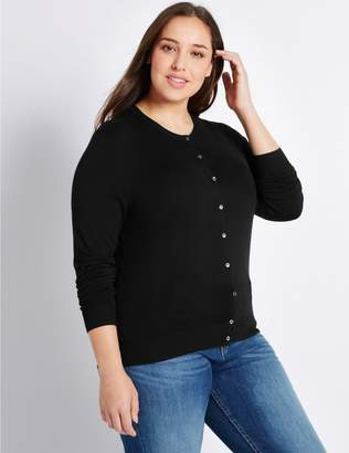 Marks and Spencer CURVE Round Neck Cardigan