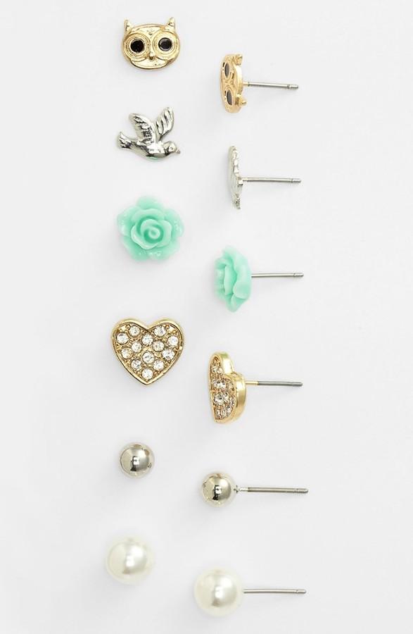 Carole Stud Earrings (Set of 6)
