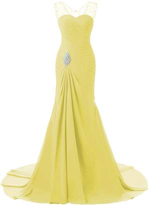 Lily Wedding Womens Mermaid Prom Bridesmaid Dresses18 Long Evening Formal Party Ball Gowns FED003 Size Plus