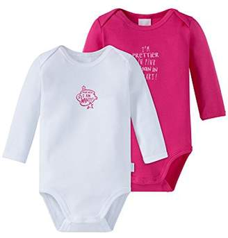 Schiesser Baby Girls' Multipack 2pack Bodies 1/1 Bodysuit,(Manufacturer Size: ) Pack of 2