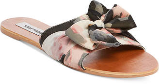 Steve Madden Women's Alex Knot Slide Sandals $59 thestylecure.com