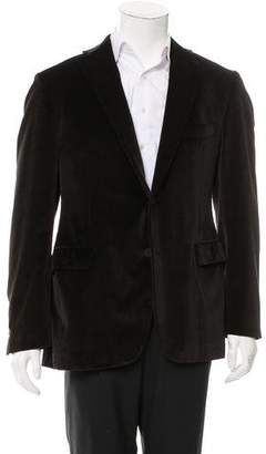 Borsalino Velvet Two-Button Blazer