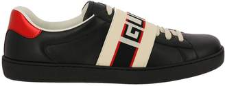 Gucci Sneakers New Ace Sneakers In Soft Leather With Elastic Band