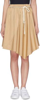 Vince Rope belt asymmetric poplin skirt