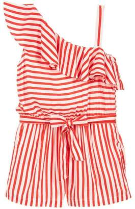 Mayoral Red Striped Playsuit