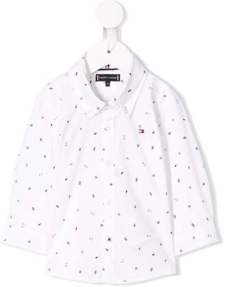 Tommy Hilfiger Junior all over logo shirt