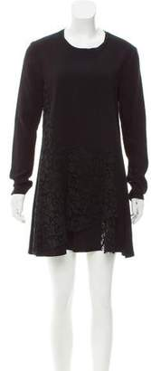 Thakoon Lace-Paneled Mini Dress