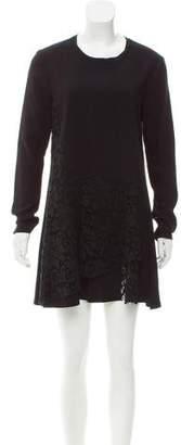 Thakoon Lace-Paneled Mini Dress