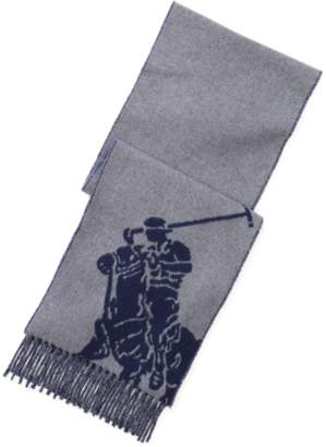 Ralph Lauren Fringed Polo Player Scarf