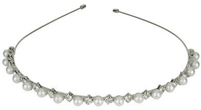 Social Gallery by Roman Pearls & Crystals Headband - Clear/White