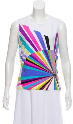 Emilio Pucci Print Sleeveless T-Shirt