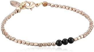 "Ettika Beaded"" Strand Bracelet with Three Onyx Beads"