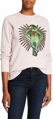 Melissa Masse Lucky Monkey Raglan-Sleeve Eco Fleece Sweatshirt